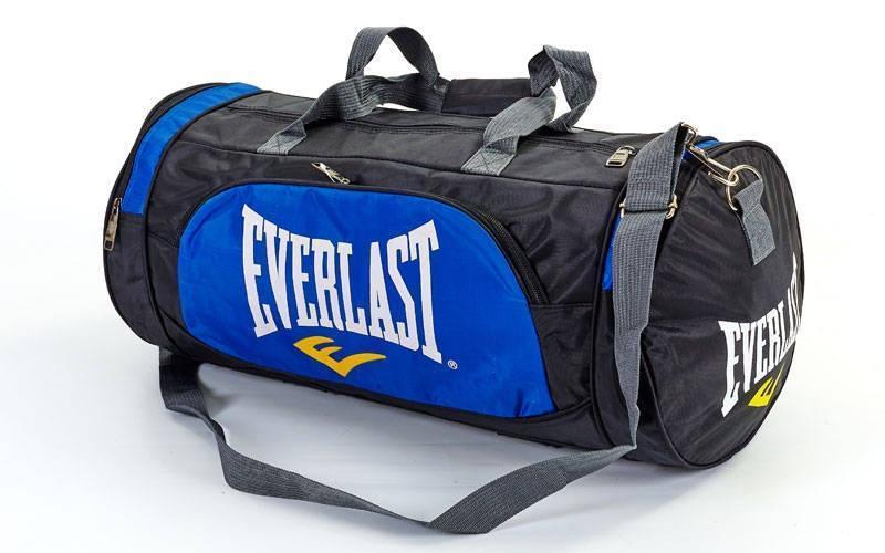 Сумка для спортзалу бочечка в стилі EVERLAST GA-016 синя