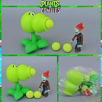 Растения против зомби   Plants vs Zombies Игровой набор №29 Двойной Горохострел (Растения стреляют шариками)