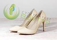 Кожаныеженские туфли  Topas 5050 беж 36,37,38,39,40 размеры, фото 1
