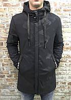 Мужская камуфляжная удлиненная куртка на весенний сезон