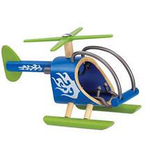 Деревянная игрушка вертолет из бамбука E-Copter