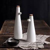 Керамическая бутылка для масла и уксуса, емкость с дозатором