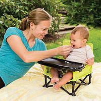 Бустер для кормления Summer Infant Pop and Sit Portable Booster, Green/Grey