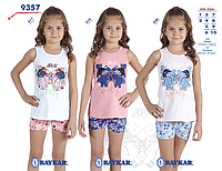 Костюм (майка+шорты) для девочки ТМ Baykar р.1-2 года (2 шт в ростовке) светло-розовый с голубым