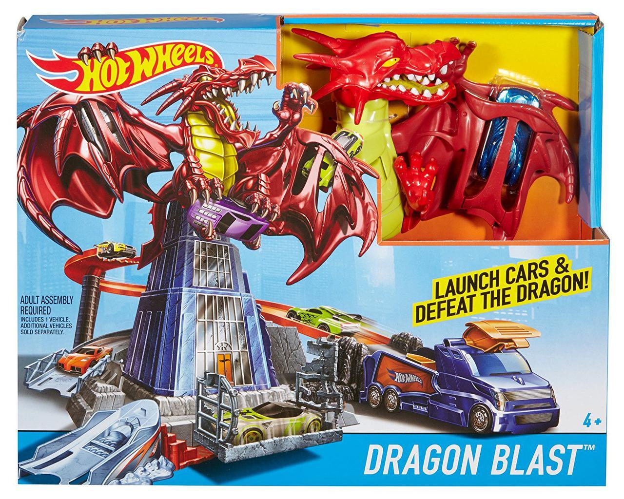 Трек Хот Вилз Битва с драконом / Hot Wheels Dragon Blast Trackset