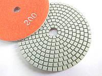 """Гибкие полировальные круги, алмазные липучки, """"Черепашки"""" для полировки гранита и мрамора d100mm №200"""