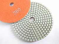 """Гибкие полировальные круги, алмазные липучки, """"Черепашки"""" для полировки гранита и мрамора d100mm №300"""