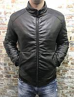 Молодежная весенняя куртка кожзам PHILIPP PLEIN