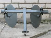 Окучник дисковый ПроТек с универсальной сцепкой (крепление дисков на трубе, диаметр дисков 416 мм)