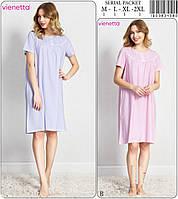 Женская ночная сорочка с пуговичками (туника) VIENETTA