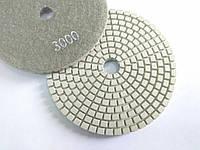 """Гибкие полировальные круги, алмазные липучки, """"Черепашки"""" для полировки гранита и мрамора d100mm №3000"""