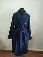Махровый мужской халат синего цвета (S), фото 1