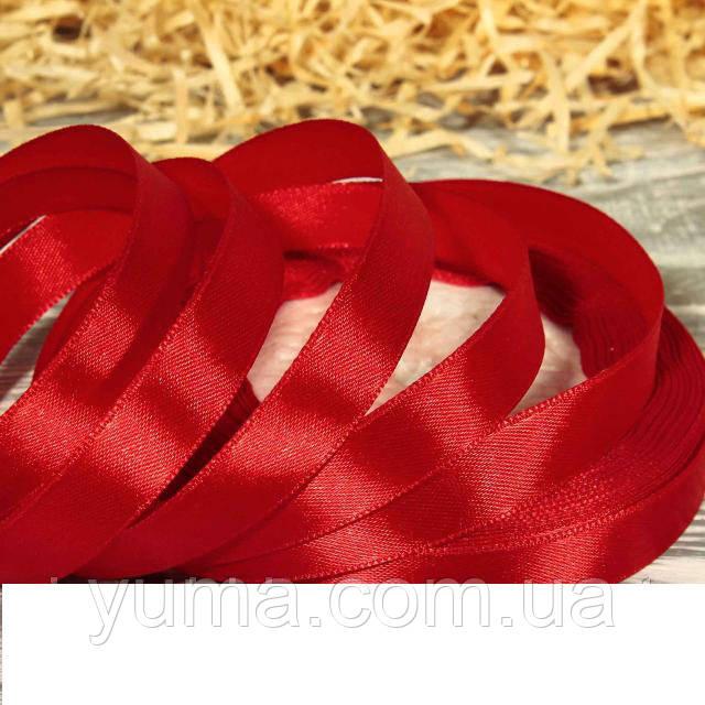 Лента атласная ш. 1,2 см красная  дл. 23 м. красный