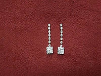 Сережки с камнями на серебрянной основе