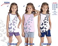 Костюм (майка+шорты) для девочки ТМ Baykar р.12-14 лет (3 шт в ростовке) сиреневый с серым