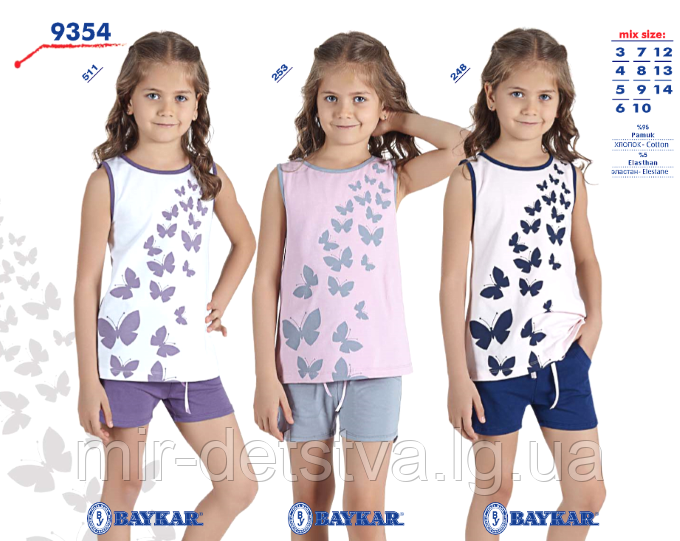 8aef62a405bc Костюм (майка+шорты) для девочки ТМ Baykar р.3-6 лет (4 шт в ростовке)  сиреневый с серым, цена 156 грн., купить в Днепре — Prom.ua (ID#672257130)