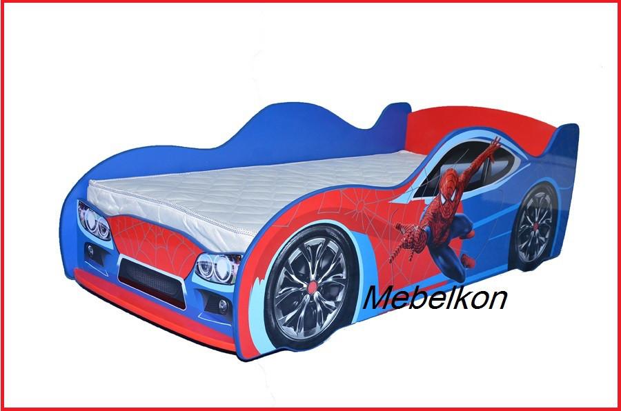 "Кроватка Машина ""Спайдермен"" (Mebelkon)"