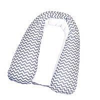 Подушка для беременных  для сна и кормления Gray zigzag