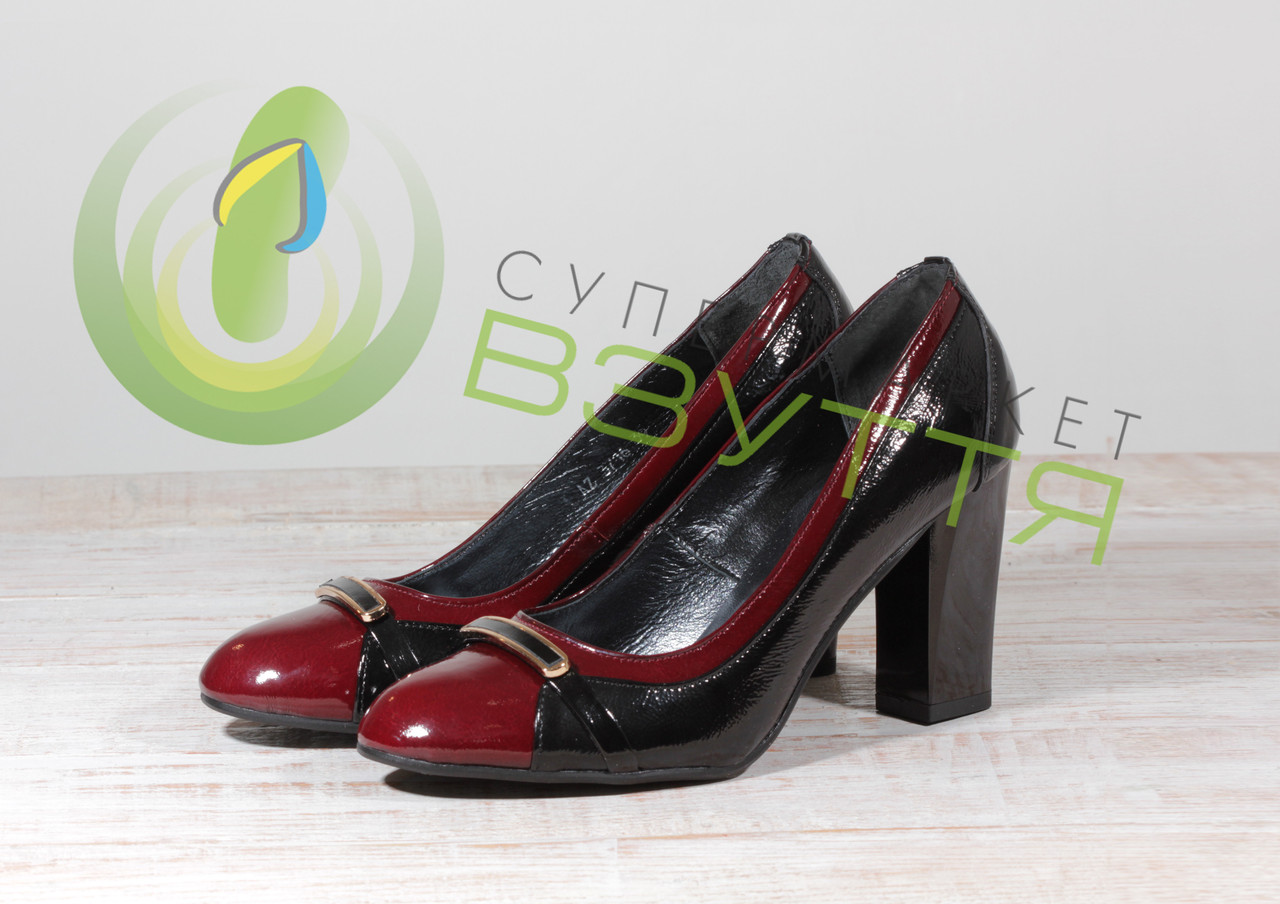 Кожаные женские туфли Скорпион 3716 бор 38 размер