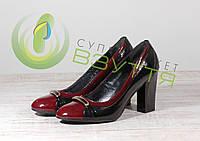Кожаные женские туфли Скорпион 3716 бор 38 размер, фото 1