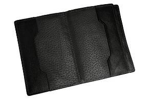 Обкладинка для документів паспорта автодокументів Grande Pelle 140х100х20 глянцева шкіра чорний