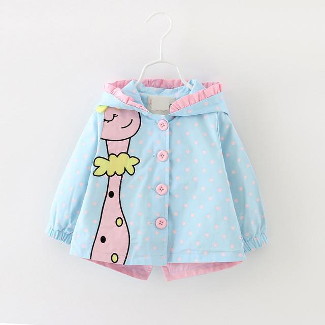 Детская куртка ветровка жираф.Куртка на девочку.Арт.1525