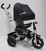 Детский трехколесный велосипед  Azimut Сrosser T-400 TRINITY AIR, черный