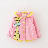 Детская куртка ветровка жираф.Куртка на девочку.Арт.1526