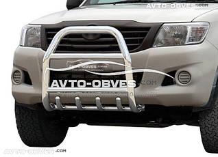 Дуга переднего бампера для Toyota Hilux 2006-2011 без логотипа (п.к. RR04)