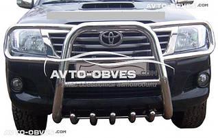 Кенгурятник высокий для Toyota Hilux 2006-2011 с защитой фар