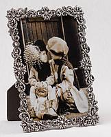 """Рамка для фотографии """"Алмазные цветы"""" 13х18 см. металл"""