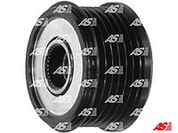 Шкив генератора (обгонная муфта) Peugeot Partner 1.6 hdi, Пежо Партнер 1.6 хди, 6 пазов , AFP3009 - AS PL