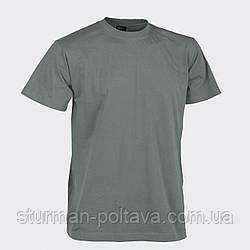 Футболка  мужская  армейская цвет полынь -  follage хлопок 100% плотность - 170g/m²  MFH Германия