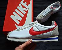 Кроссовки Nike Cortez Basic Leather Forrest Gump (Реплика ААА+)