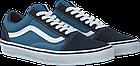 Мужские кеды Vans Old Skool 2019 Suede Canvas Navy/White (Ванс Олд Скул) в стиле синие, фото 2