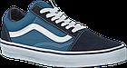 Мужские кеды Vans Old Skool 2019 Suede Canvas Navy/White (Ванс Олд Скул) в стиле синие, фото 3