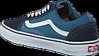 Мужские кеды Vans Old Skool 2019 Suede Canvas Navy/White (Ванс Олд Скул) в стиле синие, фото 4