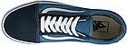 Мужские кеды Vans Old Skool 2019 Suede Canvas Navy/White (Ванс Олд Скул) в стиле синие, фото 5