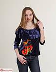 Красная вышитая блуза с воланами и рукав 3/4, фото 3