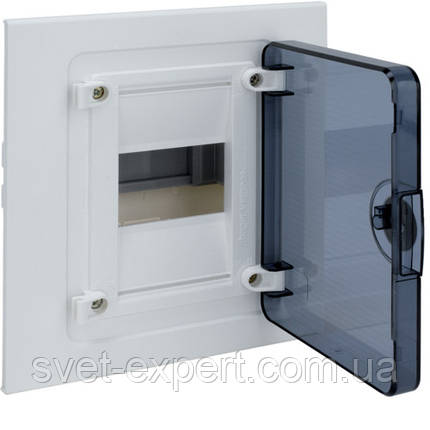 Щит Hager в/у з  прозорими дверцятами, 4 мод. (1х4), GOLF, фото 2