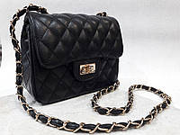 Черный женский клатч под Шанель (Chanel)