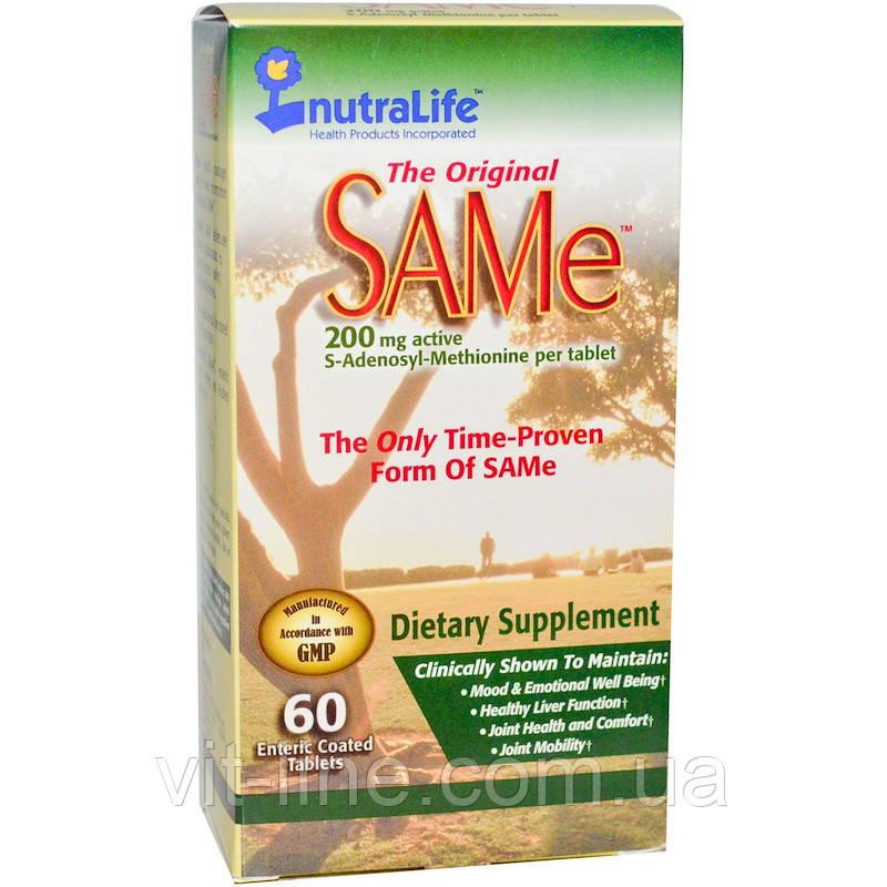 NutraLife, The Original SAMe (S-Adenosyl-L-Methionine), 200 мг, 60 таблеток