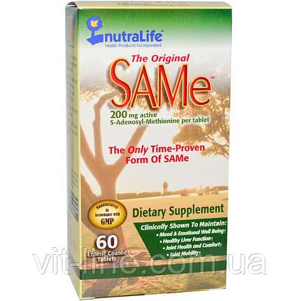 NutraLife, The Original SAMe (S-Adenosyl-L-Methionine), 200 мг, 60 таблеток, фото 2