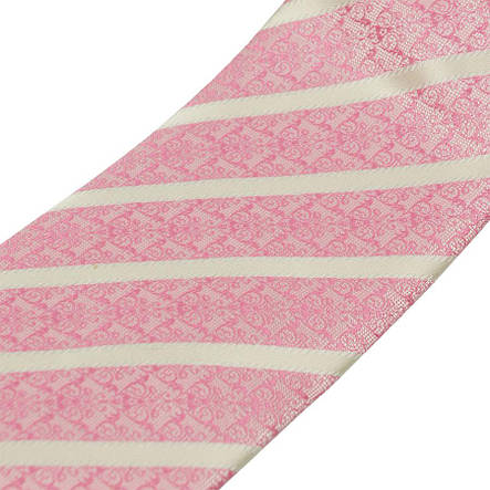 Рожева чоловіча краватка в смужку 030С, фото 2