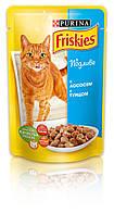 [ Friskies 100 гр ] Корм для дорослих котів з лососем та тунцем