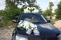 Букет для украшения свадебного автомобиля