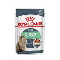 Royal Canin Digest Sensitive в соусе 85 г - паучи для улучшения пищеварения у взрослых дом кошек