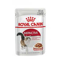 Royal Canin Instinctive (кусочки в соусе) 85 г - паучи для кошек старше 1 года