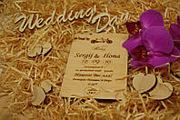 Пригласителльные на свадьбу с дерева