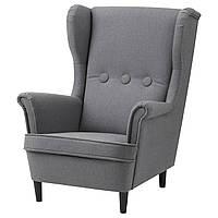 """ИКЕА """"СТРАНДМОН"""" Кресло детское, Висле серый."""